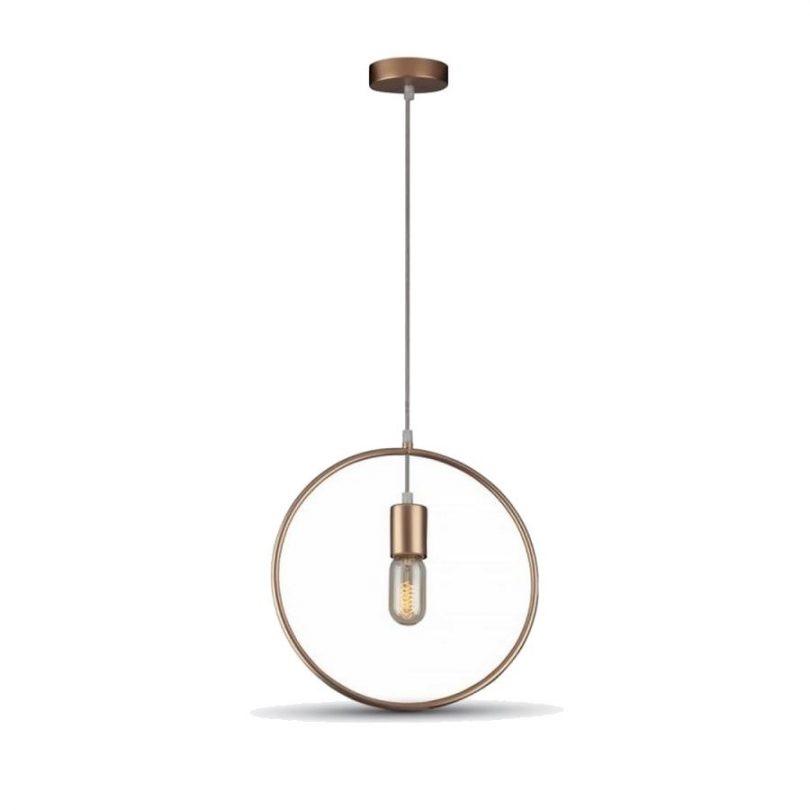 Závesné geometrické svietidlo KRUH. Svietidlo je v geometrickom vzhľade a je vhodné ako dekorácia do každej domácnosti