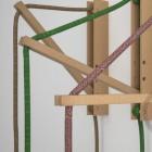 Drevený nástenný držiak pre závesnú lampu Pinocchio v hnedej farbe (7)
