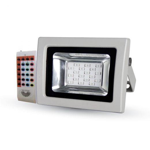 LED RGB Reflektor 10W s RF diaľkovým ovládaním