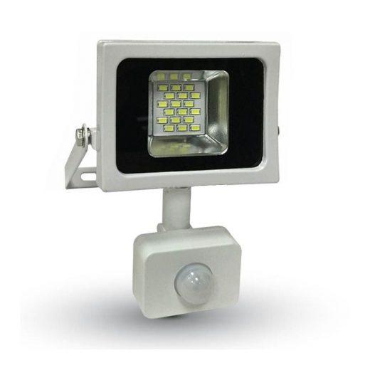 LED reflektor 10W so senzorom, 800lm, Teplá biela, biely