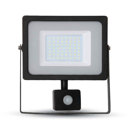 LED reflektor so senzorom - 50W Premium, 4250lm, Studená biela, čierny