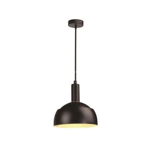 Plastové závesné svietidlo s tienidlom v čiernej farbe