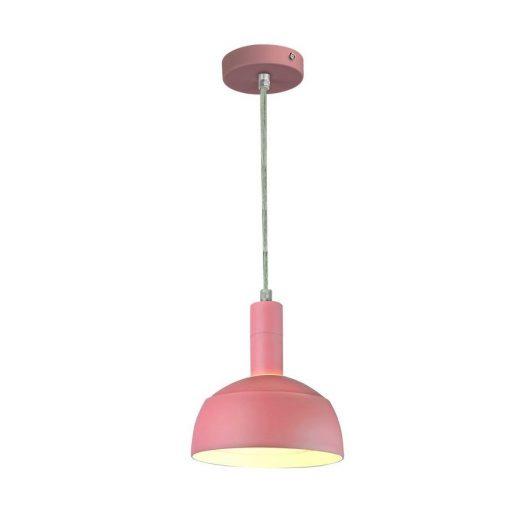 Plastové závesné svietidlo s tienidlom v ružovej farbe