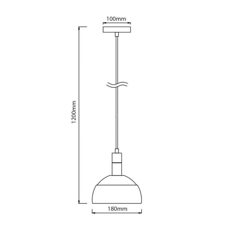 Svietidlo je vyrobené na žiarovky s päticami E27, čo je najpoužívanejší typ pätíc žiaroviek v domácnostiach.