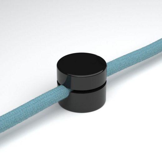 Univerzálna nástenná káblová svorka pre textilné káble v čiernej farbe (1)