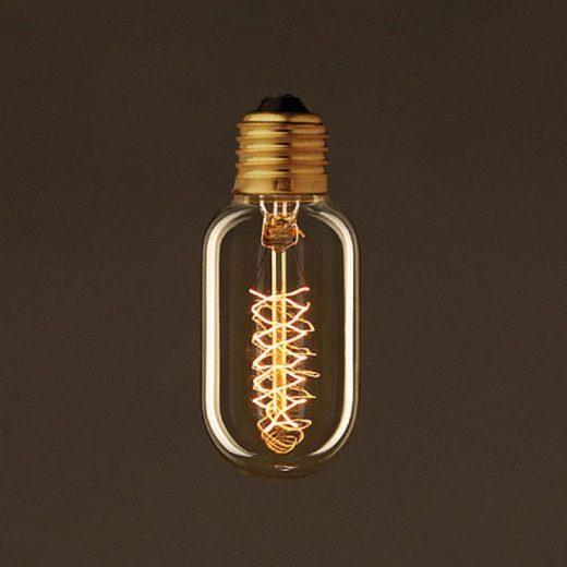 EDISON žiarovka - SPIRAL TUNNEL - E27, 30W, 60lm