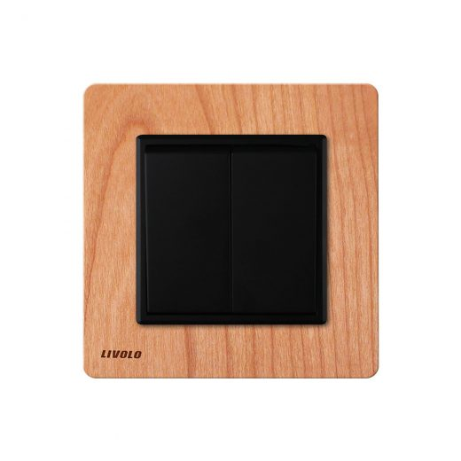 Livolo-EU-standard-Manufacturer-Luxury-Natural-Wood-Panel-Push-Button-2Gang-2-Way-Switch-Smart-Home
