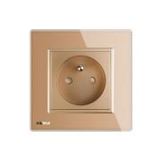 Luxusná zásuvka s ochranným kolíkom v zlatej farbe (1)