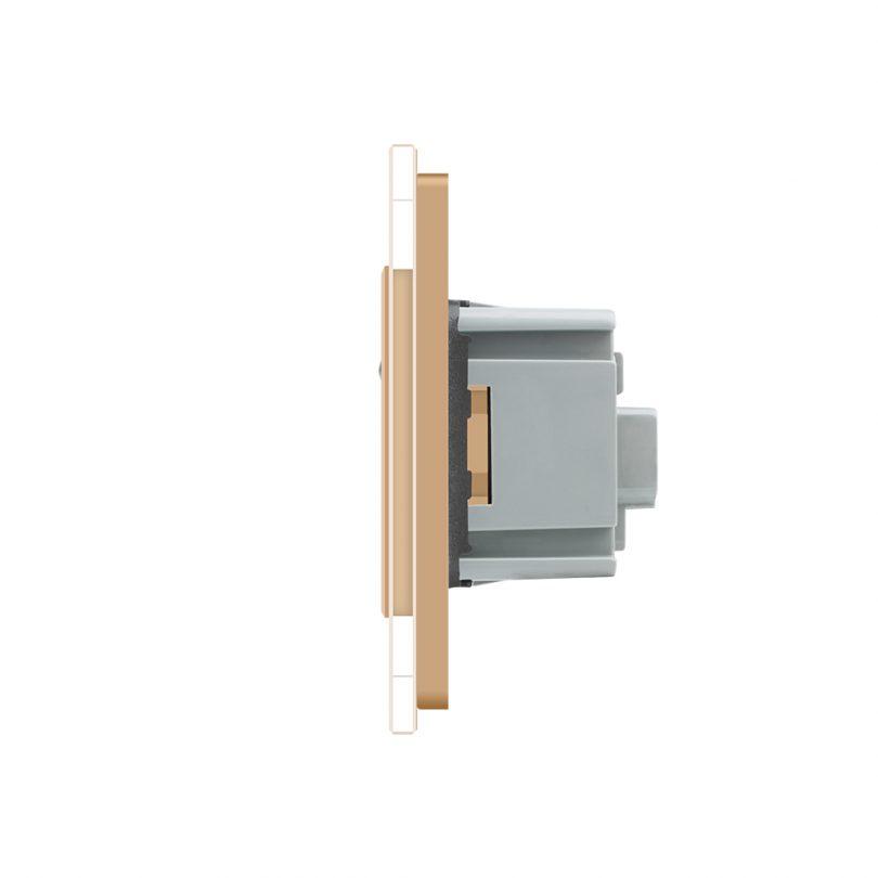 Luxusná zásuvka s ochranným kolíkom v zlatej farbe (2)