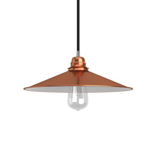 Retro kovové tienidlo v medenej farbe, priemer 30cm (2)