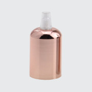 Ružovo zlatá kovová krytka + E27 biela objímka + 1 priehľadný držiak kábla (1)