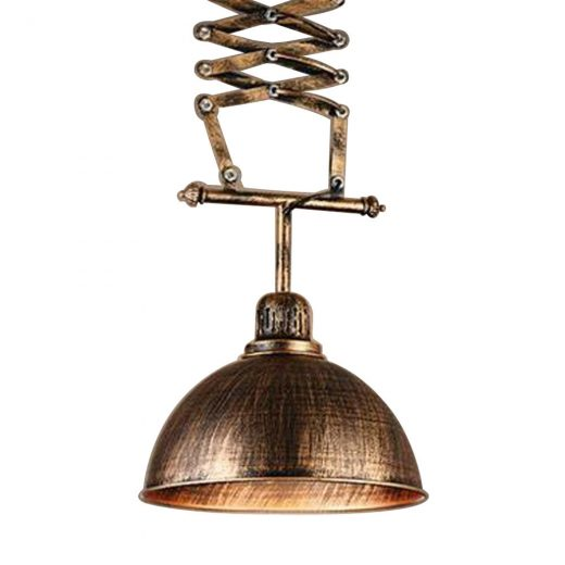 Vintage historické závesné svietidlo s teleskopickým držiakom (3)