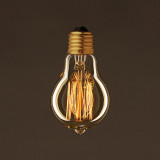 EDISON žiarovka - CLASSIC E. Dekoratívna žiarovka s uhlíkovým vláknom má klasický tvar gule s dekoračným uhlíkovým vláknom (1)