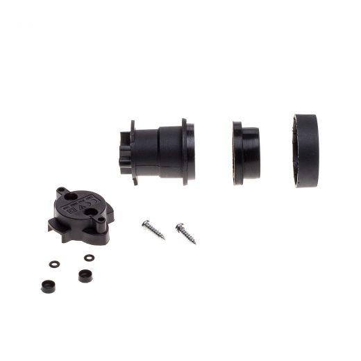 Čierna E27 objímka z termoplastu pre Svetelné šnúry. Táto čierna E27 objímka z termoplastu je navrhnutá špeciálne na zostavenie vlastných šnúrových svietidiel (2)