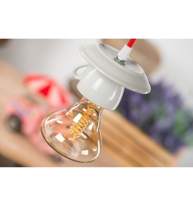 Dizajnové porcelánové svietidlo v tvare šálky (1)