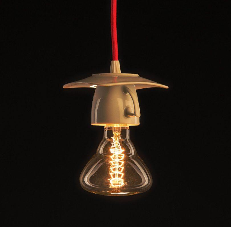 Dizajnové porcelánové svietidlo v tvare šálky (3)