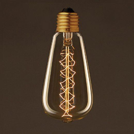 EDISON žiarovka - SPIRAL TEARDROP - E27, 30W, 60lm (1)