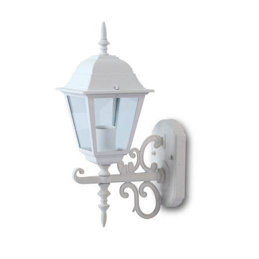 Nástenné exteriérové historické svietidlo Small Body v bielej farbe