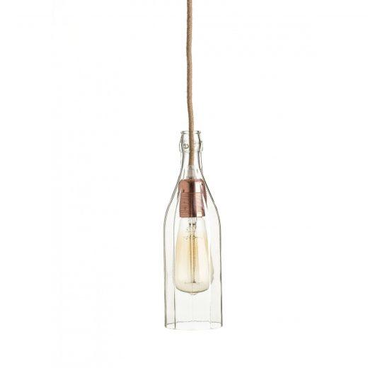 Stropné svietidlo Sklenená Fľaša v medenej kombinácií (2)