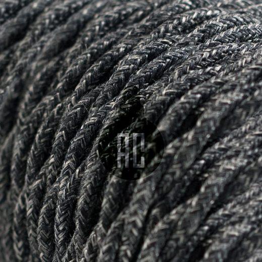 Cavo-elettrico-rivestito-in-tessuto-Trecciato-2x0-75-1-mt-Canvas-Grigio-Scuro