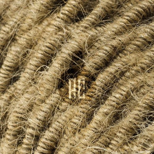 Kábel dvojžilový v podobe retro lana, juta, 2 x 0.75mm, 1 meter (2)