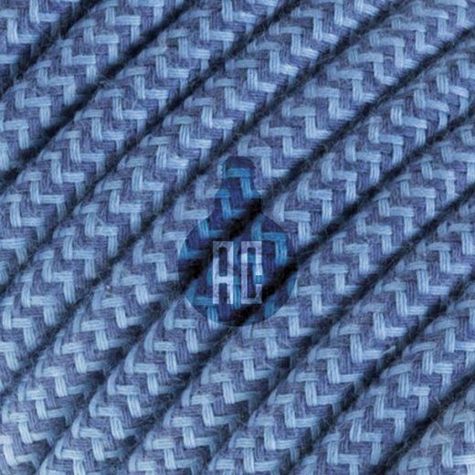 Kábel dvojžilový v podobe textilnej šnúry so vzorom, AvioJeans, 2 x 0.75mm, 1 meter (1)