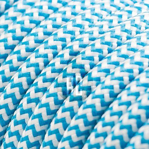 Kábel dvojžilový v podobe textilnej šnúry so vzorom BlueWhite, 2 x 0.75mm, 1 meter (1)
