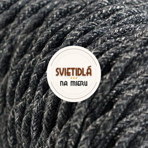 Kábel dvojžilový v podobe textilnej šnúry so vzorom, Grigio, (2)