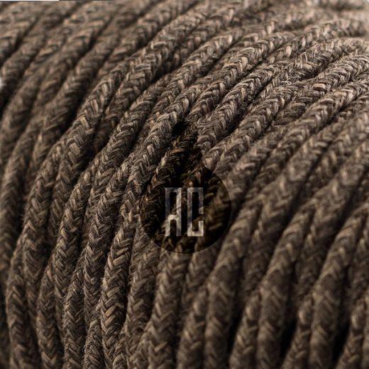 Kábel dvojžilový v podobe textilnej šnúry so vzorom, Marrone, 2 x 0.75mm, 1 meter (1)