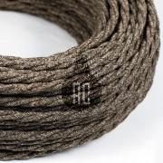 Kábel dvojžilový v podobe textilnej šnúry so vzorom, Marrone, 2 x 0.75mm, 1 meter (2)