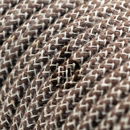 Kábel dvojžilový v podobe textilnej šnúry so vzorom, MarroneLino, 2 x 0.75mm, 1 meter (2)