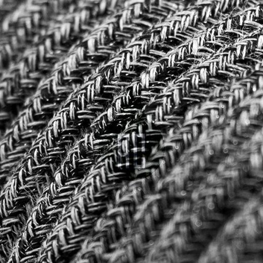 Kábel dvojžilový v podobe textilnej šnúry so vzorom, NeroLino, 2 x 0.75mm, 1 meter (1)