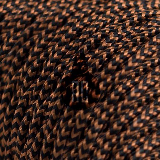 Kábel dvojžilový v podobe textilnej šnúry so vzorom, Whiskey, 2 x 0.75mm, 1 meter (1)