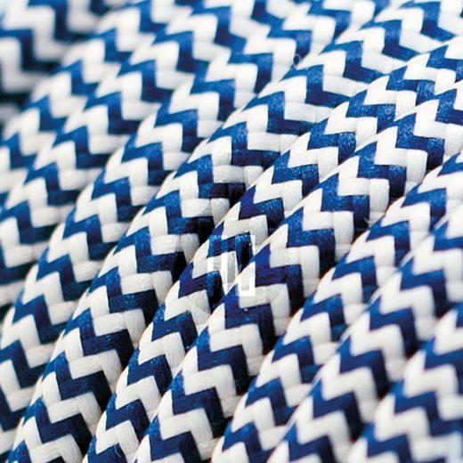 Kábel dvojžilový v podobe textilnej šnúry so vzorom WhiteDark blue, 2 x 0.75mm, 1 meter (1)