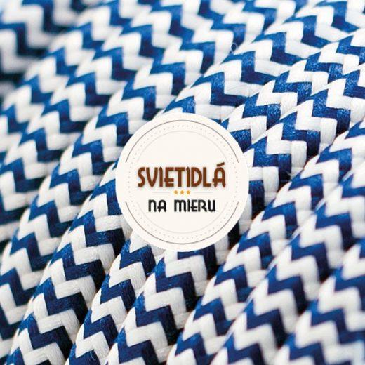 Kábel-dvojžilový-v-podobe-textilnej-šnúry-so-vzorom-WhiteDark-blue-2-x-0.75mm-1-meter-1