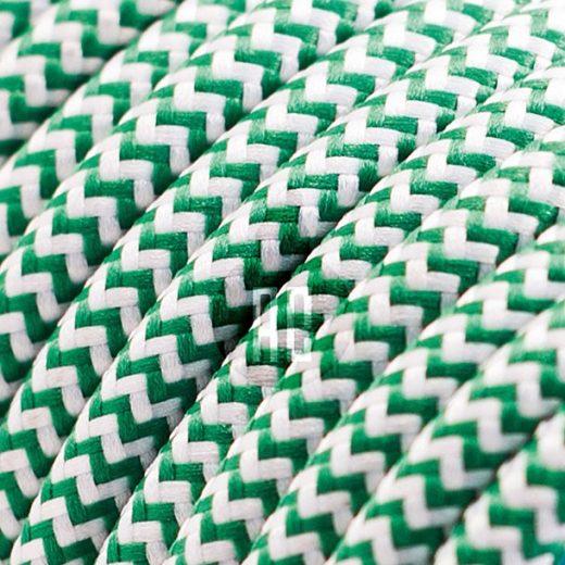 Kábel dvojžilový v podobe textilnej šnúry so vzorom WhiteGreen, 2 x 0.75mm, 1 meter (1)