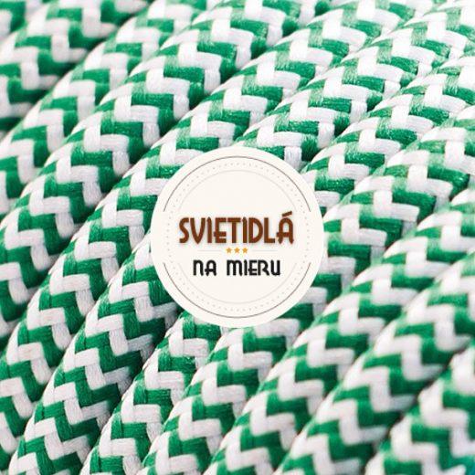 Kábel-dvojžilový-v-podobe-textilnej-šnúry-so-vzorom-WhiteGreen-2-x-0.75mm-1-meter-1