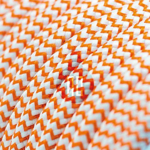 Kábel dvojžilový v podobe textilnej šnúry so vzorom WhiteOrange, 2 x 0.75mm, 1 meter (1)