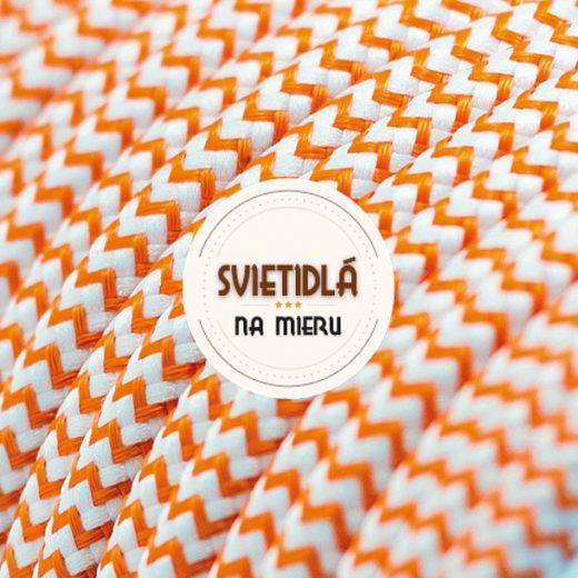 Kábel-dvojžilový-v-podobe-textilnej-šnúry-so-vzorom-WhiteOrange-2-x-0.75mm-1-meter-1