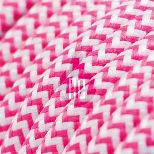 Kábel dvojžilový v podobe textilnej šnúry so vzorom WhitePink, 2 x 0.75mm, 1 meter (1)