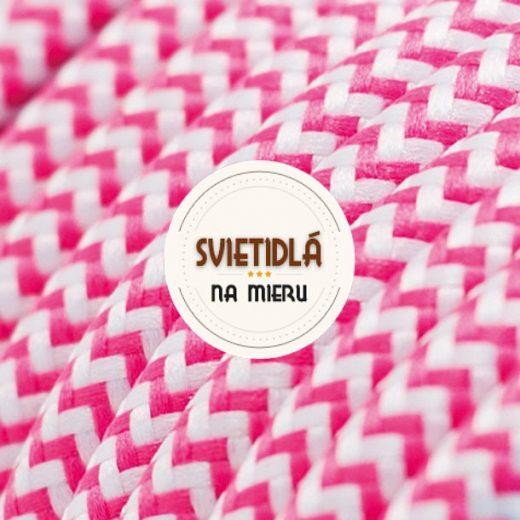 Kábel-dvojžilový-v-podobe-textilnej-šnúry-so-vzorom-WhitePink-2-x-0.75mm-1-meter-1