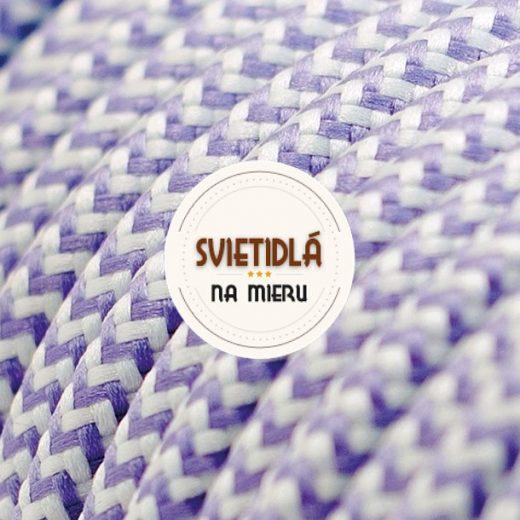 Kábel-dvojžilový-v-podobe-textilnej-šnúry-so-vzorom-WhitePurple-2-x-0.75mm-1-meter-1
