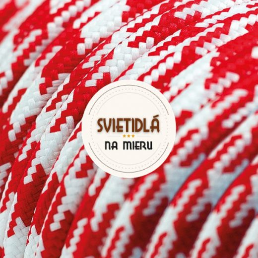 Kábel-dvojžilový-v-podobe-textilnej-šnúry-so-vzorom-WhiteRed-2-x-0.75mm-1-meter-1