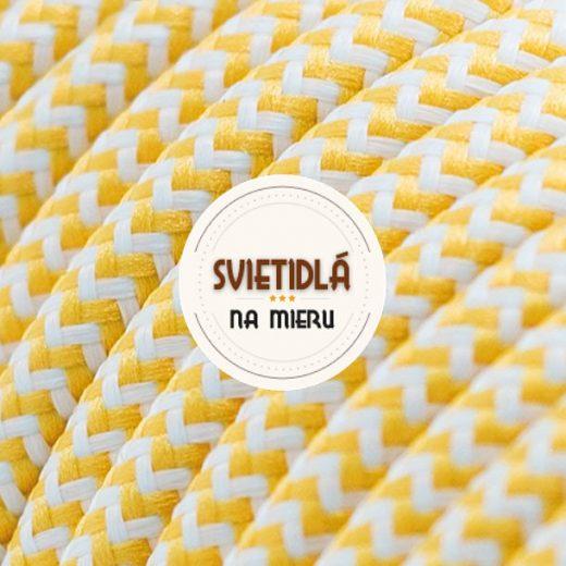 Kábel-dvojžilový-v-podobe-textilnej-šnúry-so-vzorom-WhiteYellow-2-x-0.75mm-1-meter-1