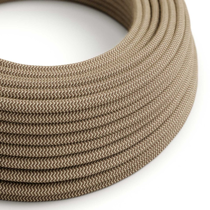Kábel-dvojžilový-v-podobe-textilnej-šnúry-so-vzorom-MarroneLino-2-x-0.75mm-1-meter-2