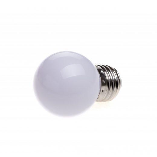 LED Dekoratívna žiarovka pre svetelné šnúry a reťaze, E27, 1W, Biela farba (2)