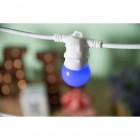 LED Dekoratívna žiarovka pre svetelné šnúry a reťaze, E27, 1W, Modrá farba (1)
