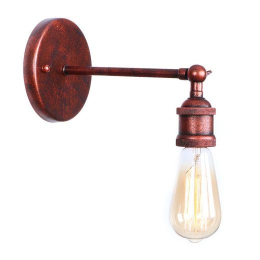 Historické nástenné svietidlo na žiarovky typu E27 v staro medenej farbe (3)