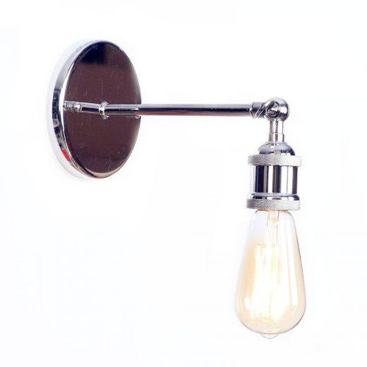 Historické nástenné svietidlo na žiarovky typu E27 v striebornej farbe (3)