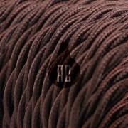 Kábel dvojžilový skrútený v tmavo hnedej farbe, bavlna, 2 x 0.75mm, 1 meter (2)